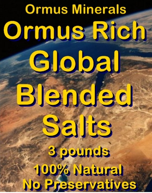 Ormus Minerals -Red Sea Salt from Israel with Ormus Rich Global Blended Salts