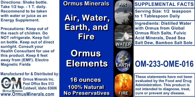 Ormus Elements